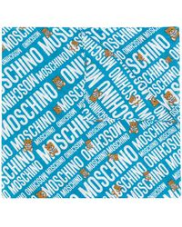 Moschino Sjaal Met Teddybeerprint - Blauw