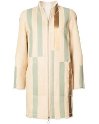Sprung Freres - Striped Coat - Lyst