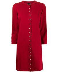 agnès b. Snap-fastening Knitted Dress - Red