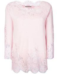 Ermanno Scervino - Lace Trim Sweatshirt - Lyst