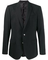 Dolce & Gabbana ボタン テーラードジャケット - ブラック