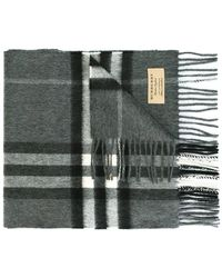 Burberry - Giant Icon Check Scarf - Lyst