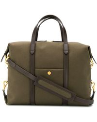 Mismo Satchel Tote Bag - Brown