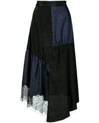 Tibi パッチワーク スカート - ブラック