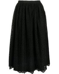 Vivetta アイレットレース スカート - ブラック