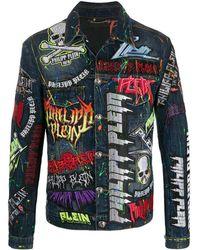 Philipp Plein Декорированная Джинсовая Куртка Rock Pp - Синий