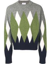 AMI アーガイル セーター - グレー