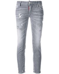DSquared² - Skinny-Jeans in Distressed-Optik - Lyst