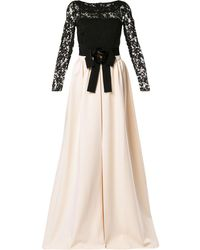 Gucci Two-tone Lace Dress - Black