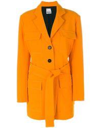 Arthur Arbesser Four Pocket Coat With Belt - Orange