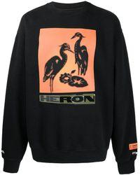 Heron Preston グラフィック スウェットシャツ - ブラック