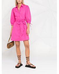 Liu Jo クロップドスリーブ シャツドレス - ピンク