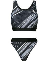 adidas - Trefoil Two-piece Bikini Set - Lyst