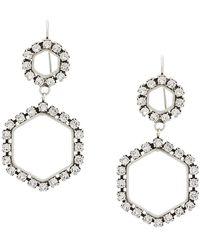 Isabel Marant Boucles d'oreilles à design géométrique - Métallisé