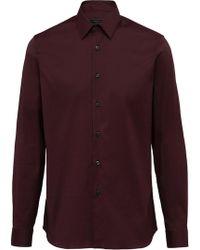 Prada - Stretch Poplin Shirt - Lyst