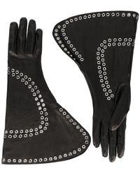 Alexander McQueen - Fold-over Embellished Gloves - Lyst