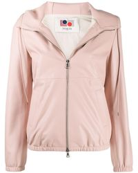 Ports 1961 Hooded Face-embroidered Jacket - Pink