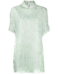 Jil Sander Longline Textured Shirt - Green