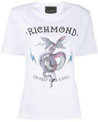 John Richmond - Snake Logo Print Boxy Fit T-shirt - Lyst