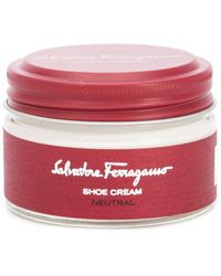 Ferragamo Neutral Shoe Cream - White