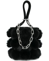 Alexander Wang Pompom Bucket Bag - Black