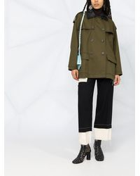 Loewe Короткое Двубортное Пальто - Зеленый