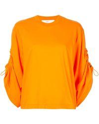 Toga ドローストリング Tシャツ - オレンジ
