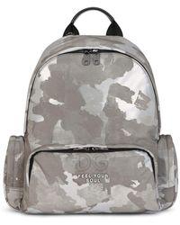 Dolce & Gabbana Rucksack mit Camouflage-Print - Weiß