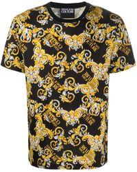 Versace Jeans Couture Футболка С Принтом Logo Baroque - Черный