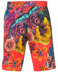 Paul Smith - Floral Print Shorts - Lyst