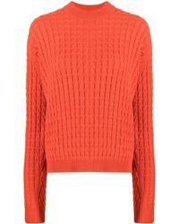Sara Lanzi Cable-knit Sweater - Red