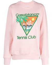 CASABLANCA ロゴ スウェットシャツ - ピンク