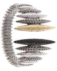 John Hardy 18kt 'Classic Chain Spear Flex' Gelbgoldarmspange - Mettallic