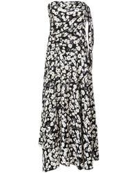 Derek Lam - Jacquard-Kleid mit Mohnblumen-Print - Lyst