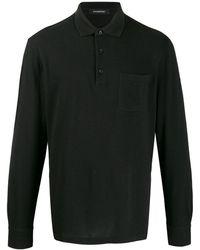 Ermenegildo Zegna Longsleeved polo shirt - Nero