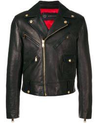 ea5195f59bd Lyst - Blousons en cuir Versace homme à partir de 240 €