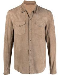 Salvatore Santoro Button-down Fitted Shirt - Natural