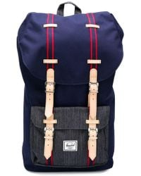 Herschel Supply Co. - Little America (wine Tasting Crosshatch/tan Synthetic Leather) Backpack Bags - Lyst