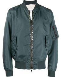 3db41c4a8 Rockstud Embellished Bomber Jacket - Gray