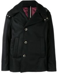 Low Brand - Hooded Fitted Coat - Lyst