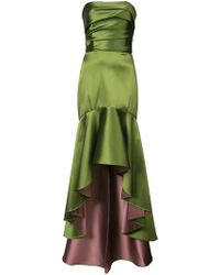 Marchesa notte - ドレープ イブニングドレス - Lyst