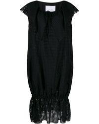 Pushbutton ショートスリーブ ドレス - ブラック
