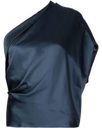 Michelle Mason ワンショルダー シルクトップ - ブルー