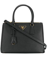 Prada Small Galleria Tote Bag - Zwart