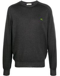 Etro Джемпер С Вышитым Логотипом - Серый