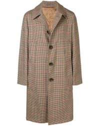 Gabriele Pasini - Checked Single-breasted Overcoat - Lyst