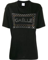 Gaëlle Bonheur Crystal Embellished T-shirt - Black