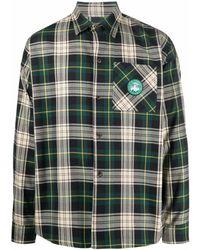 Societe Anonyme Camisa a cuadros de manga larga - Verde