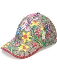 Gucci GG Flora Baseball Cap - Brown