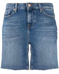 7 For All Mankind High Waist Shorts - Blauw
